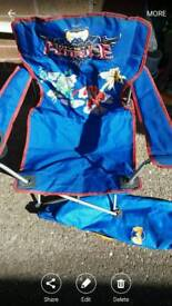 power rangers mystic force folding chair/seat kids with carry bag