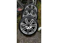 CHEAP Audi S-Line 18'' inch twin 7 spoke alloy wheels x3 ET45 8J A3 A4 TT A5 Golf VW Skoda 5x112