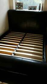 Luxury double leather bed