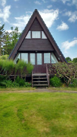 Holiday Lodge North Wales, quirky cosy A-frame on Haven holiday park