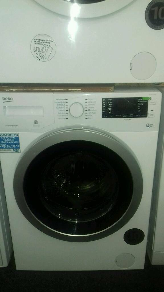 washer dryers beko 8kg new never used offer sale £229