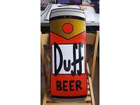 Simpsons DUFF beer santa cruz cruiser skateboard