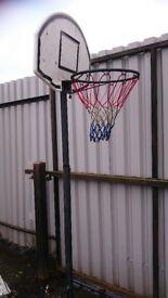kids basketball/netball net , free standing