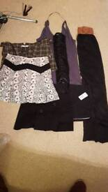 Selection of short skirts and dresses