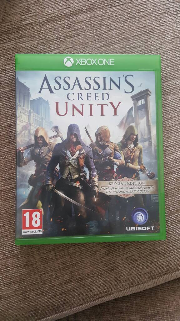Assassins creedUnity (Xbox onein Plymouth, DevonGumtree - Assassins creed Unity for Xbox one.Disk and case are in excellent condition, hardly used.Please also check my other Xbox one games
