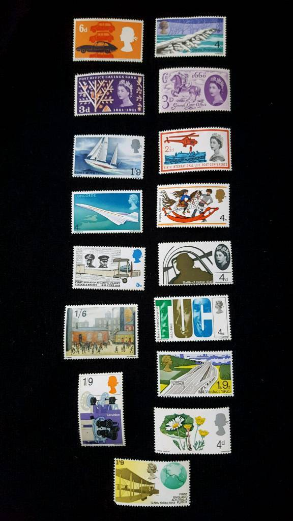 16 x PRE DECIMAL COMMEMORATIVE STAMPS