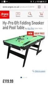 6ft folding pool table