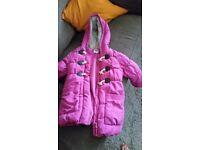 Pink girls winter coat
