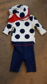 3 piece M & S swim suit 3-6 months