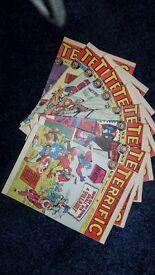 Comics 'Terrific'. Vintage Comics. 9 issues in good condition.
