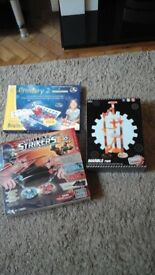 3 games, unopened, ages around 8 years.