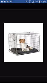 Barely used medium dog crate