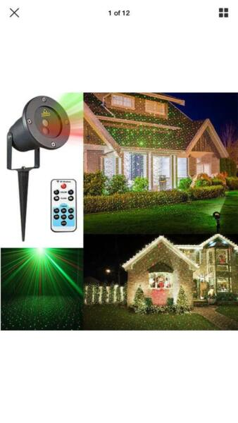 Brand New Landscape Flood Laser Projector stage Light IP65 Waterproof Red-Green Xmas Party Weddings, used for sale  Leytonstone, East London