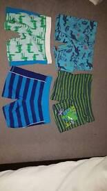 Four pairs of brand new boys swim trunks Marks & Spencer age 6/7