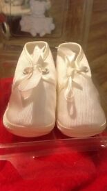 Cream Christening Shoes 6-12 Months