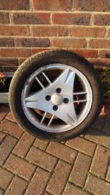 Alloy Wheels and tyres from ford escort