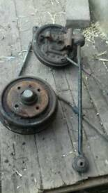 Ford escort mk4 cabby rear drums tia bar