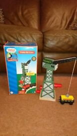 Ideal Christmas present - Cranky the Crane - Wooden Train Accessory