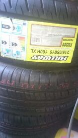Brand new 215 65 15 budget tyre x2