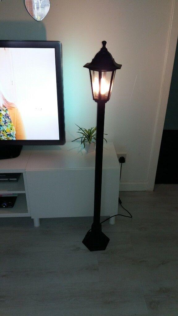 black indoor outdoor lamp post