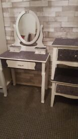 Whole bedroom set dressing table and 2 bedside tables