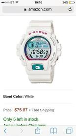 G-shock watch (white)