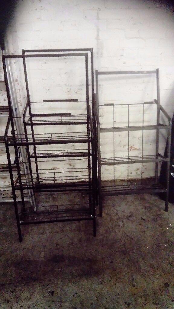 Metal rack on wheels