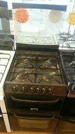 CANNON 50CM GAS DOUBLE OVEN COOKER IN BROWN