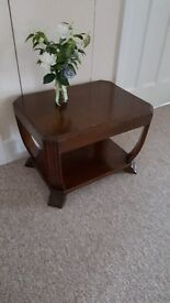 1960s 'retro' solid Oak two tier coffee/side table in very good condition
