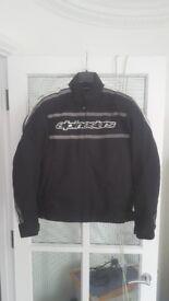 Alpinestars waterproof textile motorcycle jacket + CE armour + thermal liner