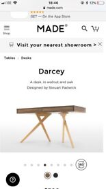 MADE desk Darcey wood walnut oak