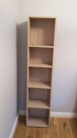 John Lewis narrow bookcase.Easy to assemble.Hardly used.