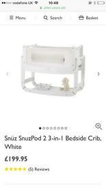 Snuzpod 3 in 1 bedside crib