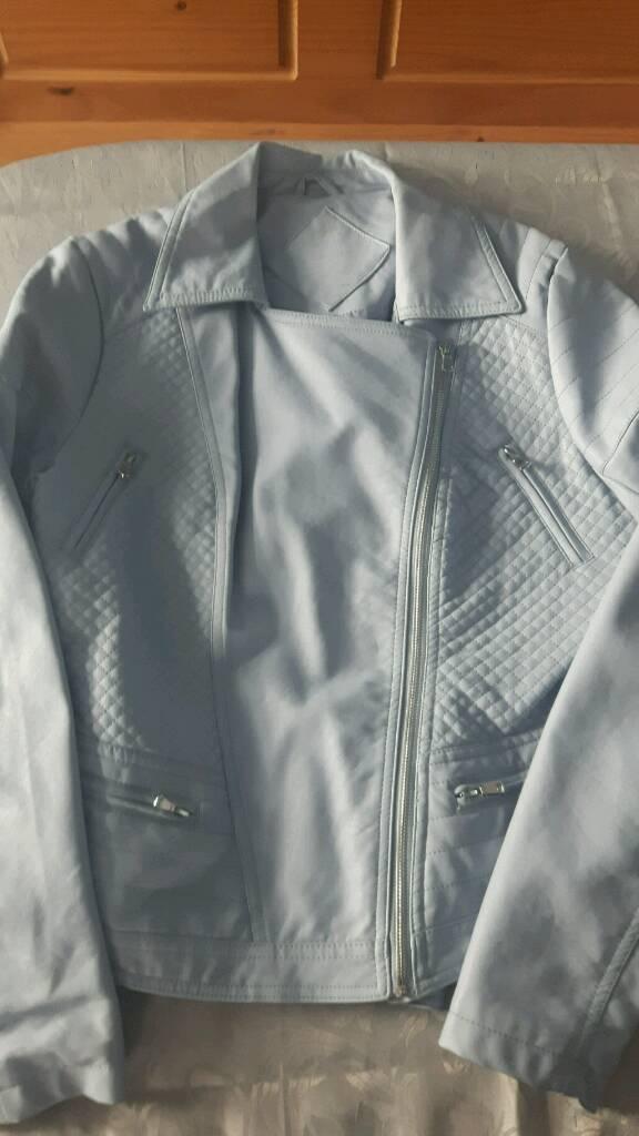 Womens light blue jacket size 14