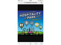 Hospitality in the park tickets