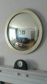 Marks and Spencer Large Round portal mirror mat silver