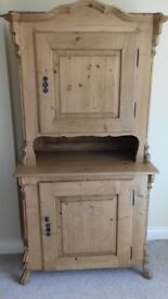 Antique Pine Cupboard / Dresser