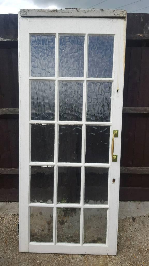 Vintage Glass Panel Front Door In Northampton Northamptonshire