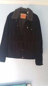 Levi's Black Sherpa Trucker Jacket