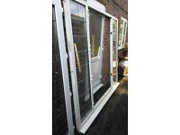 Patio doors, white, uPVC. £300.00