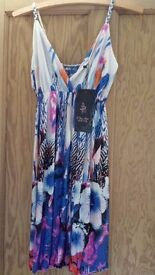 Sun Dress/long top, patterned design, versatile, perfect for summer, new with Tag