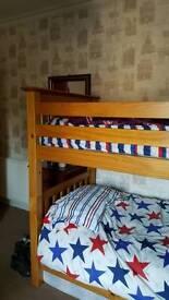 Large pine bunks full size