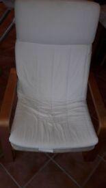 Ikea Poang Chair - Cream.