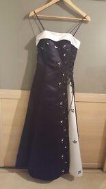 Beautiful prom dress- Black and White- Size XS