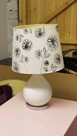 White table lamps - pair