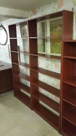 Modern Dark Wood Bookcase / Display Shelves ( 2 Available )