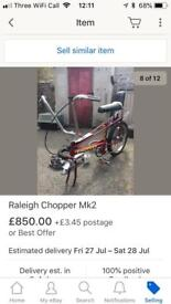 Raleigh chopper 1972... almost complete restoration