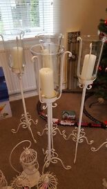 Wedding decor - birdcages, standing candle pillars, favour boxes, sweet jars, petals