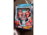 Boxed Spider-Man spiderman Walkie Talkies slightly used
