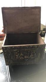 Antique firewood box